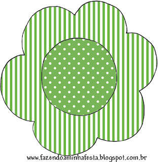 Green with White Polka Dots: Free Printable Cupcake Wrappers and Toppers
