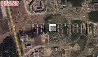 Спутниковый снимок местности сада камней в Минске, Уручье