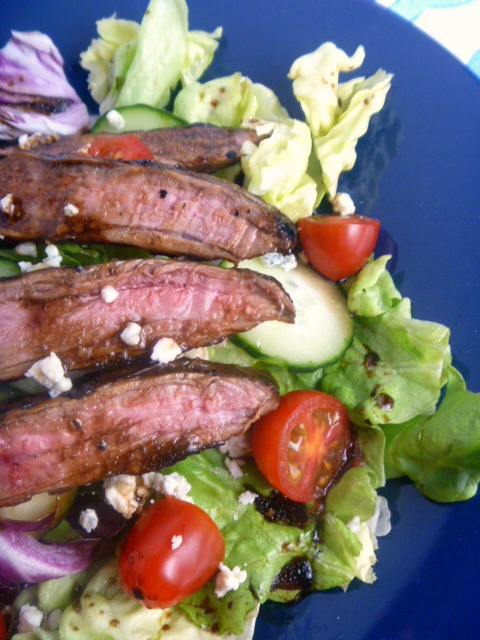 9 Summer Grilling Favorites 2018 - Weeknight Balsamic Steak Salad - Slice of Southern