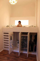 cama alta en cuarto para niños