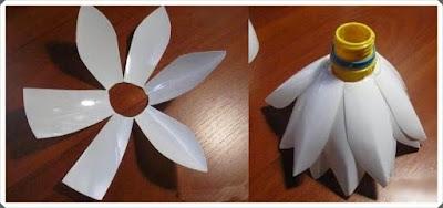 Pet Şişeden Nilüfer Çiçeği Yapımı, Resimli Açıklamalı 4