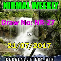 NIRMAL  WEEKLY LOTTERY LOTTERY NO. NR-27th DRAW held on 21/07/2017
