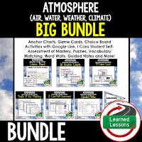 Earth's Atmosphere, EARTH SCIENCE MEGA BUNDLE, Earth Science Curriculum, Anchor Charts, Game Cards, Puzzles, Vocabulary Activities, Choice Boards, Digital Interactive Notebooks, Word Walls, Picture Puzzles, Test Prep