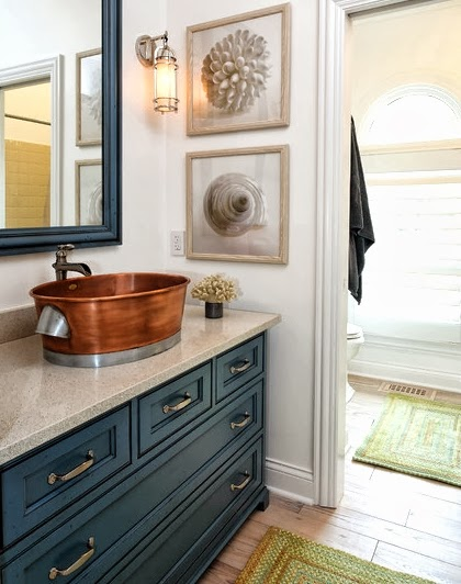 Navy Blue Paint Idea for Bathrooma