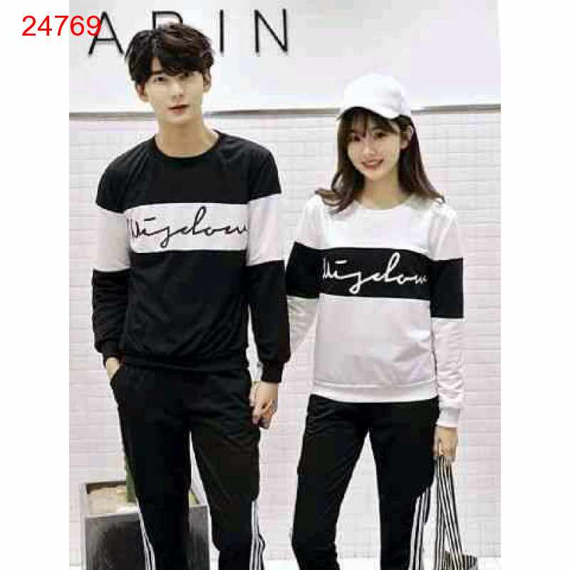 Jual Sweater Couple Sweater Wisdom Cross White Black - 24769