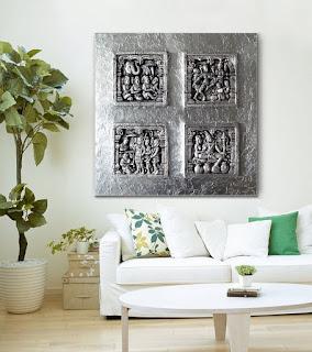 cuadros en relieve para sofas