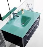 meuble de salle de bain vasque en verre