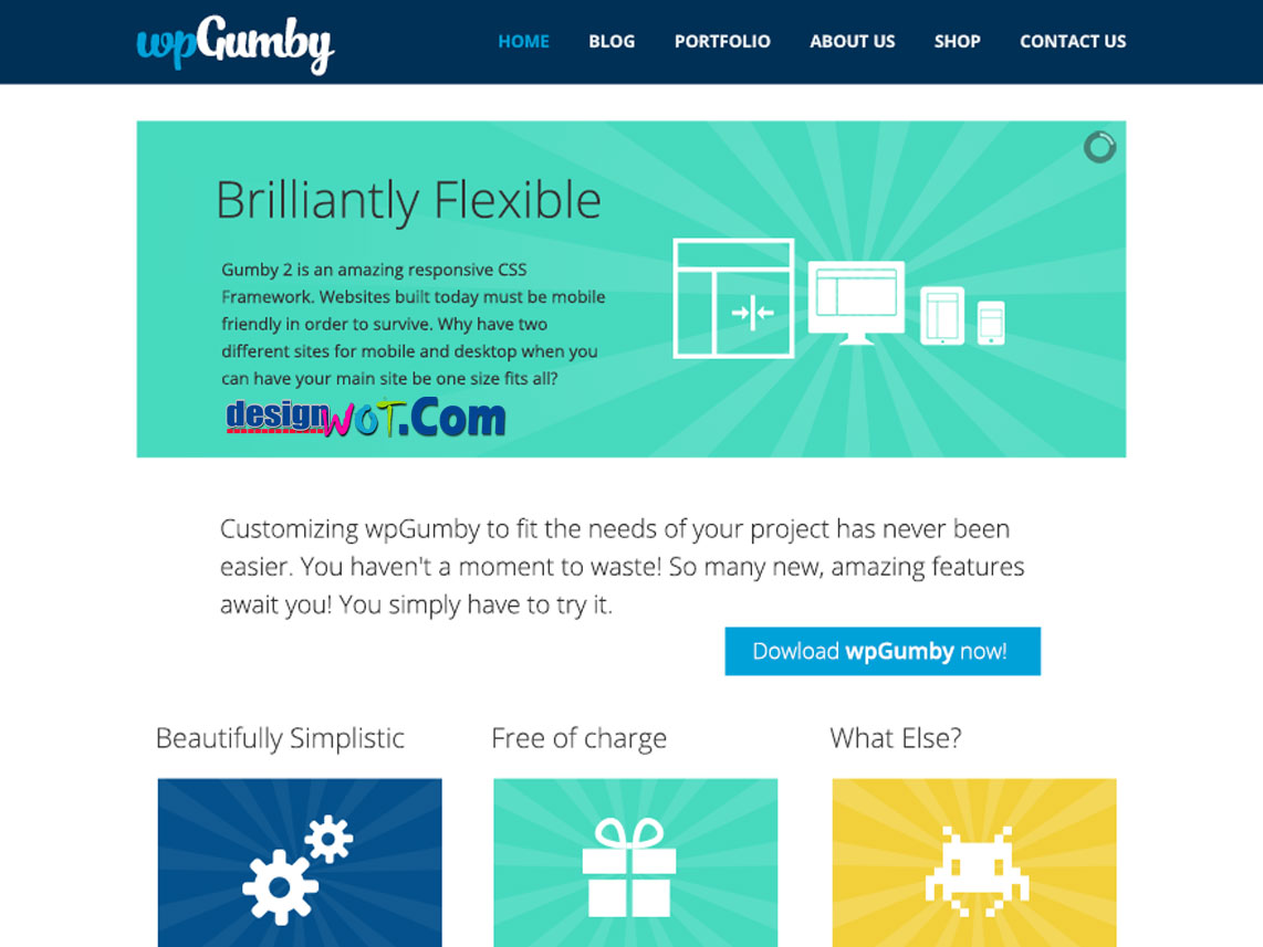 WPGUMBY Responsive WordPress Theme