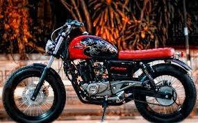 modifikasi motor pulsar 200cc style bobber 2014