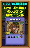 Leprechaun - Wizard101 Card-Giving Jewel Guide