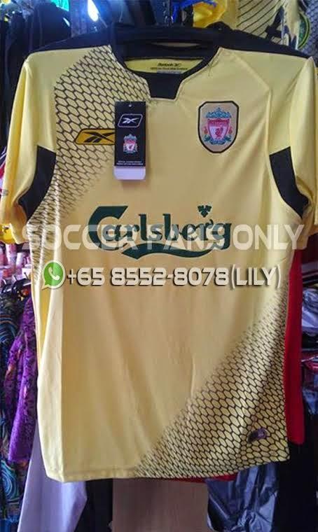 brand new bd2b6 78421 LFC Retro SG: Liverpool Retro Carlsberg Jersey (Yellow)