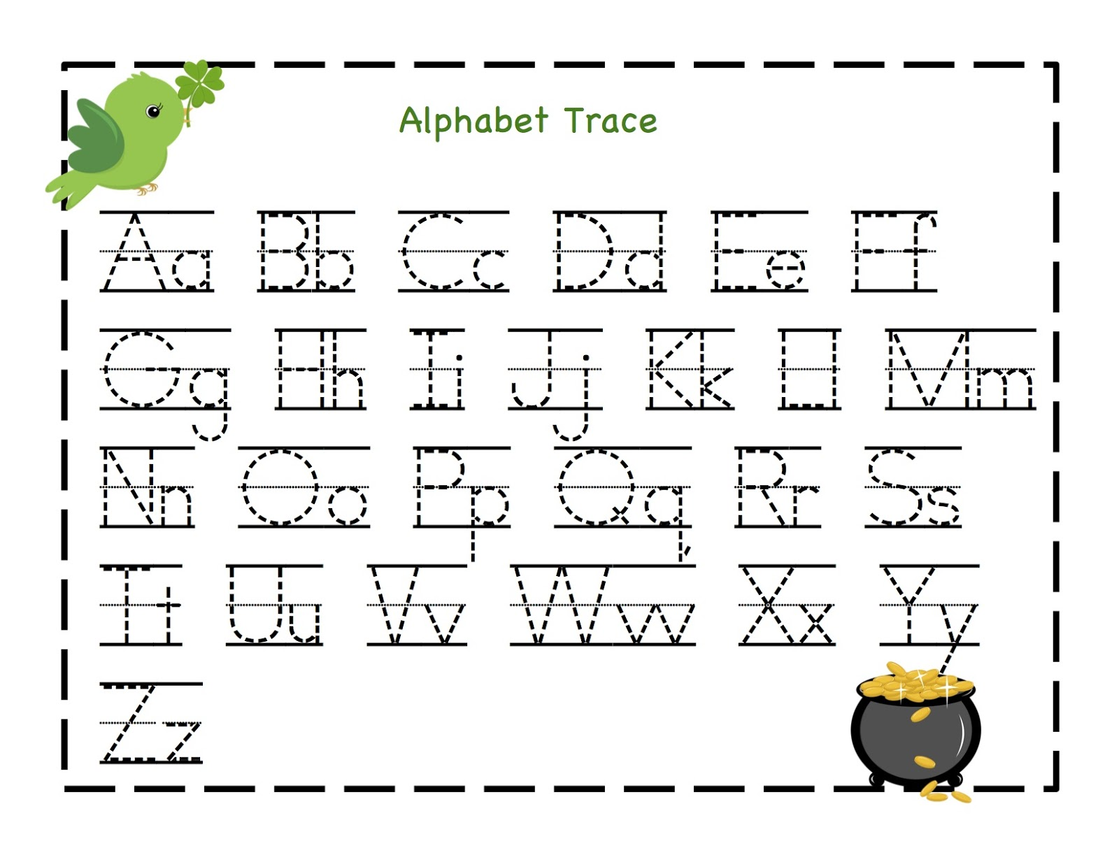 Alphabet Tracing Letters moreover Alphabet Handwriting Drill Worksheet ...
