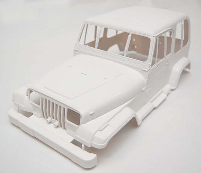 Tamiya Jeep Wrangler molded hard body