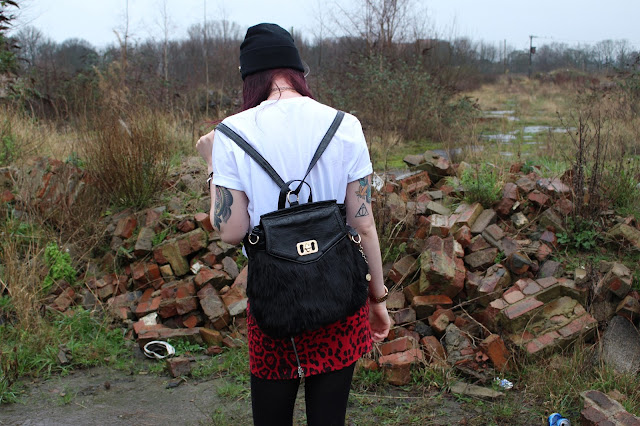Grunge Fluffy backpack