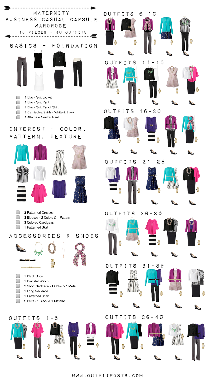 Outfit Posts Maternity Capsule Wardrobe Business Casual