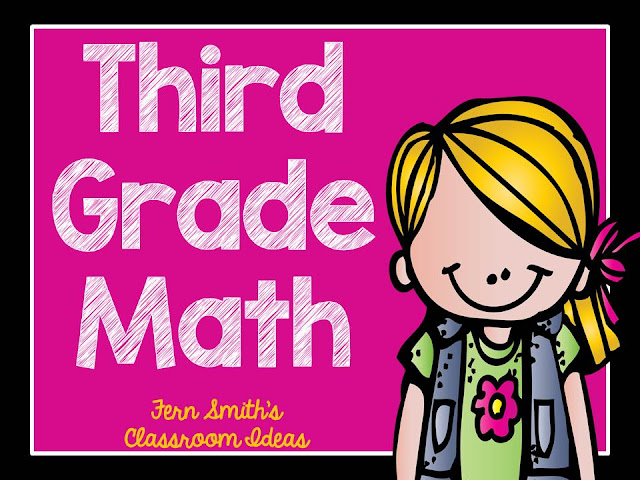 Click here to read more about Fern Smith's Classroom Ideas Third Grade Math - Unit One - Color Your Answers Printables