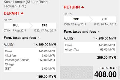 AirAsia Sale Cheap Seat Flight Ticket KL Taipei