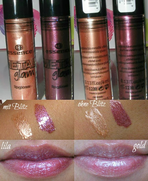 essence Metal Glam Lipgloss - Review, Fotos, Swatches