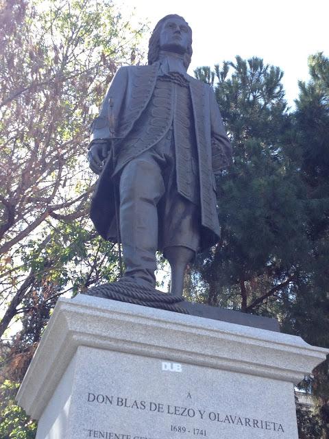 Don Blas de Lezo - Estatua a Blas de Lezo en la Plaza de Colón en Madrid - El orgullo inglés humillado por Blas de Lezo - Con cariño para Vernon - ÁlvaroGP - el troblogdita