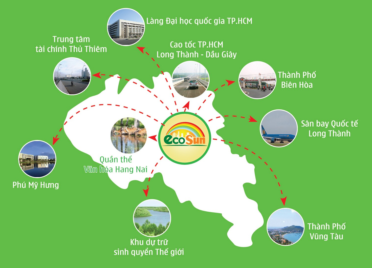 Đất nền dự án  Ecosun Nhơn Trạch