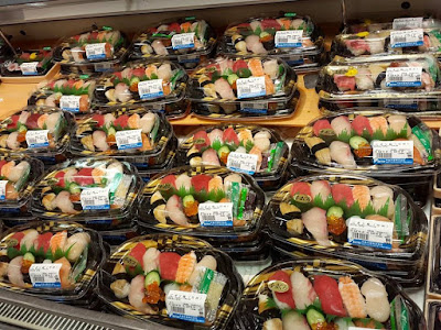 Mixed sushi in Kyoto Station Japan