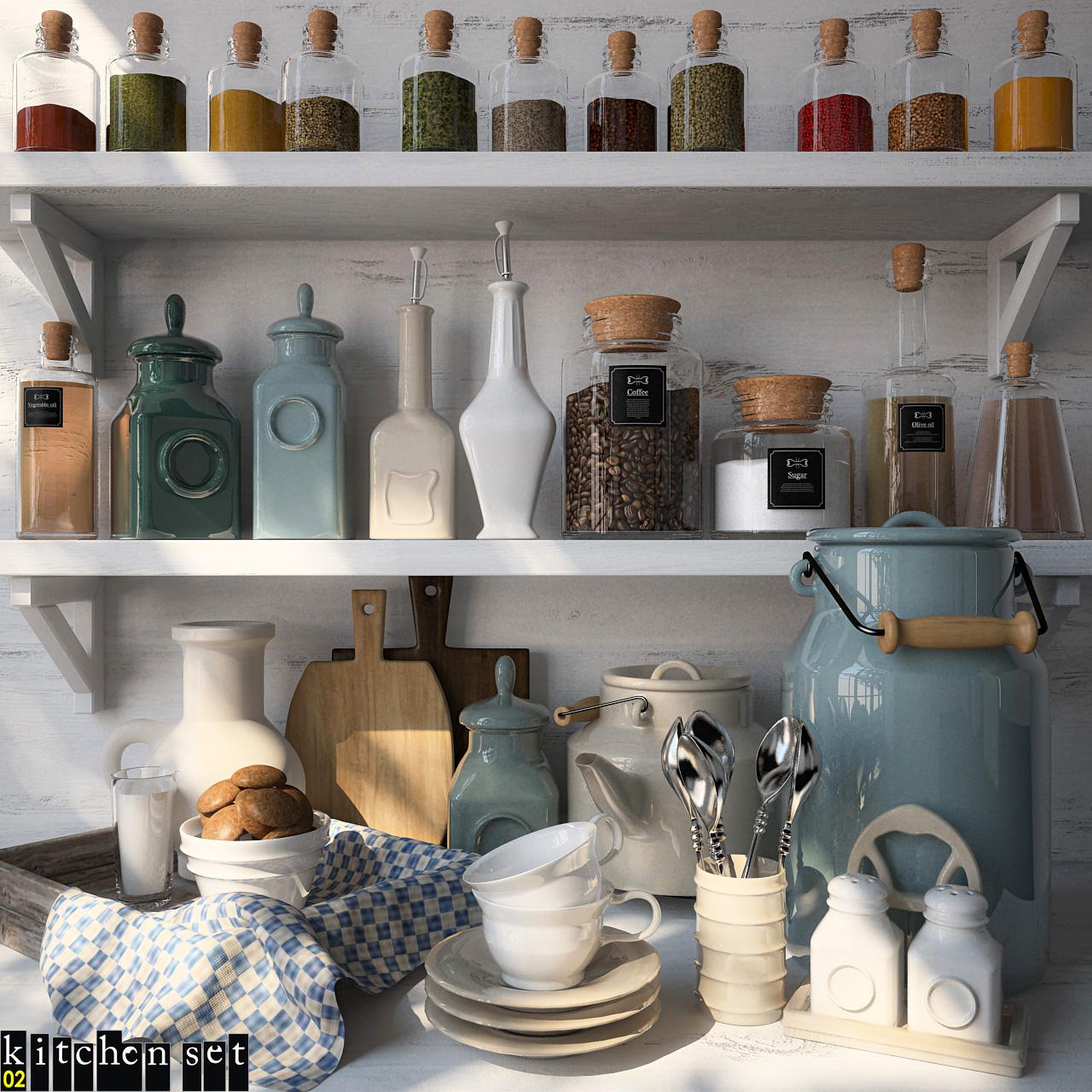 1  Kitchen Sets Collection Free Sketchup Models
