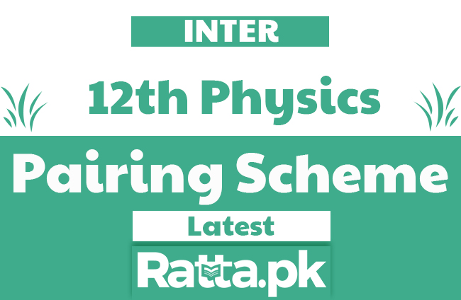 2nd Year Physics Pairing Scheme 2019 - Assessment Scheme