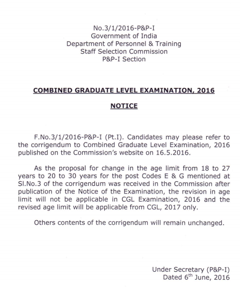 SSC+CGL+Notification+regarding+age+limit