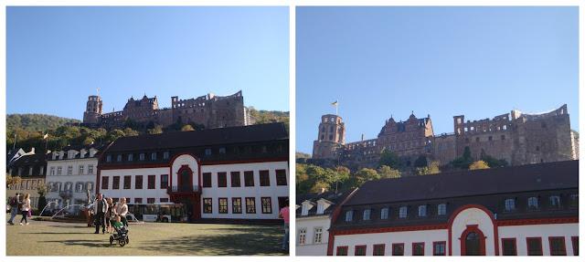 Castelo de Heidelberg visto da Karlplatz