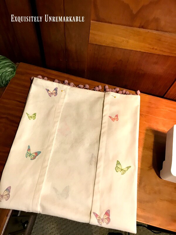 Fold And Pin Dish Towel For Pillow Cover