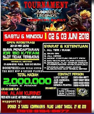 Kompetisi Mobile Legend Berhadiah 2 Jt (Lampung Barat 2018)