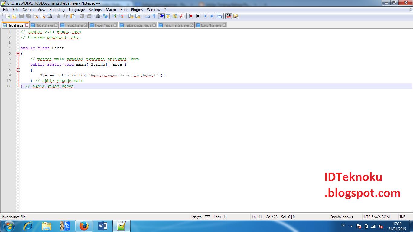 Menggunakan Bahasa Pemrograman Java Sangat Cepat dan Mudah