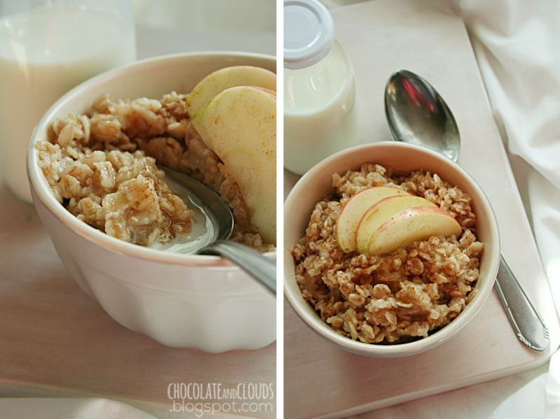 apple cinnamon oatmeal rezept