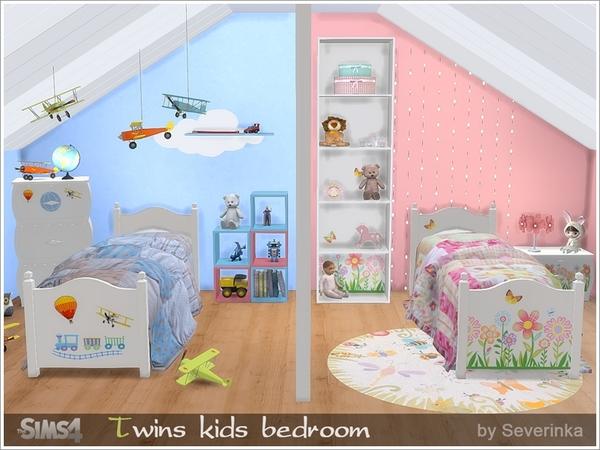 My Sims 4 Blog Twin Kids Bedroom Set By Severinka