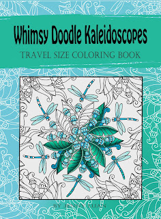 whimsy doodle Kaleidoscopes travel size coloring book