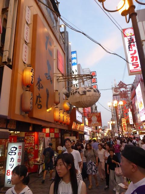 Restaurantes zona Dotombori en Osaka