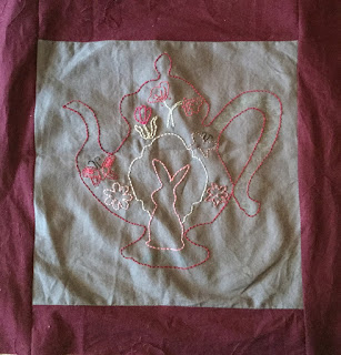 Block 4 - Embroidery of Growing up QAL