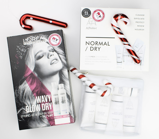 christmas packs gift gifts set ry ry.com.au Alpha H Normal/Dru Skin Skincare Kit L'Oreal Tecni Art Wavy Blow Dry Kit