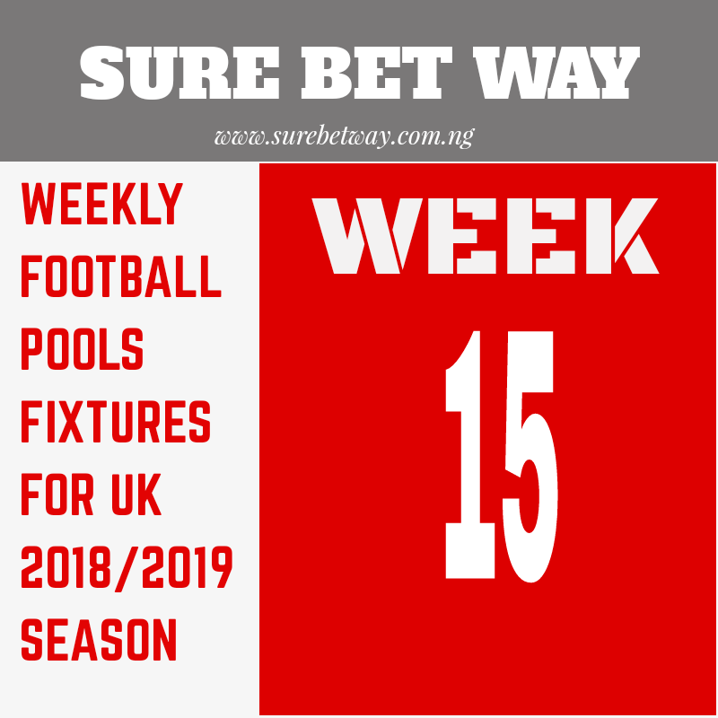 Football pool prediction for week 15 w 110shop co uk