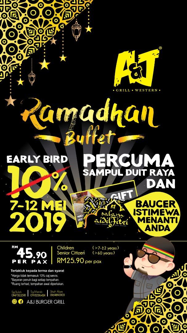 Harga Buffet Ramadhan di A&J Burger Grill