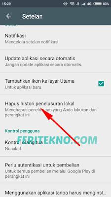 cara menghapus riwayat pencarian di google playstore 3