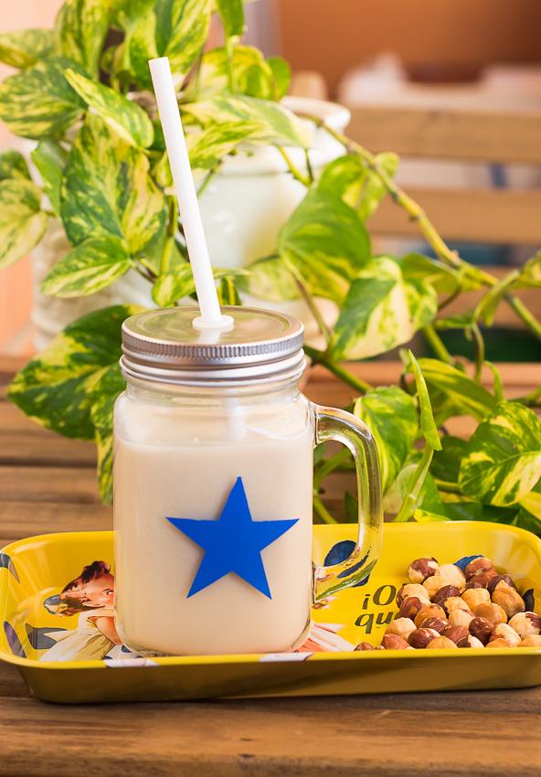 Cómo hacer leche de avellanas casera | la Rosa dulce
