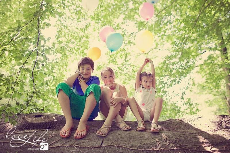 Séance photo enfants en forêt