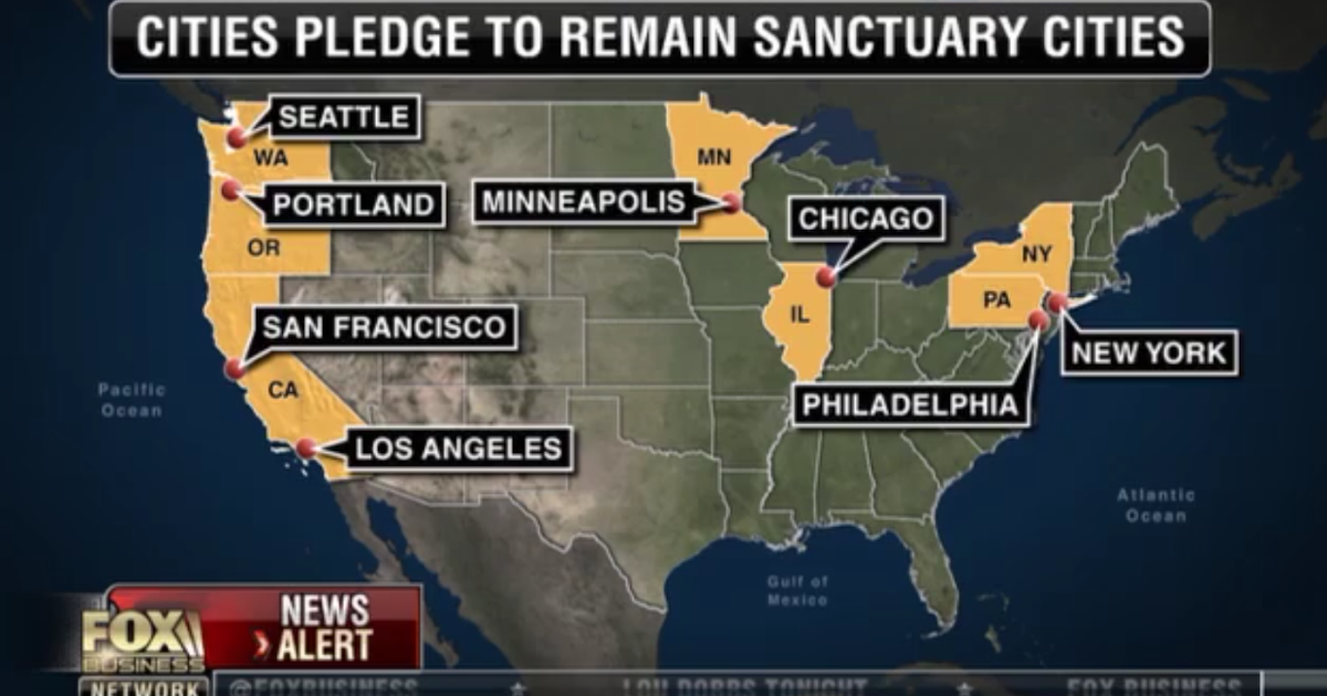 Political Pistachio Sanctuary Cities Give A Big Middle Finger To - Map of sanctuary cities in us