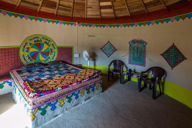 Interiors of the Bunga at the resort.