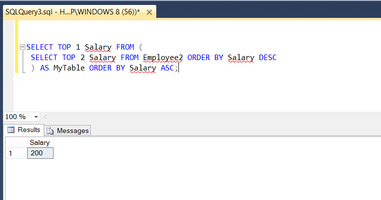 Second Highest Salary in MySQL and SQL Server - LeetCode ...