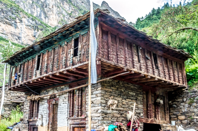 Beautiful houses at Budhi village