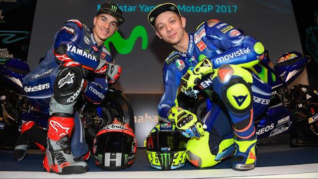 Hubungan Maverick Vinales dan Valentino Rossi tak lagi harmonis di tubuh tim Movistar Yamaha