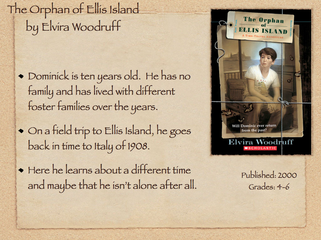 Young Adult Reading Machine The Orphan Of Ellis Island By