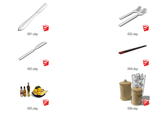komponen sketchup dapur